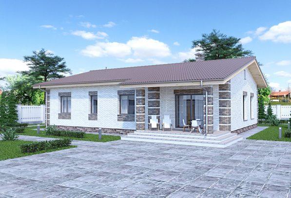 Фасад дома с клинкером