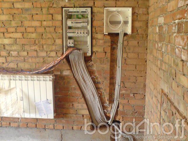 Монтаж электрики в коттедже