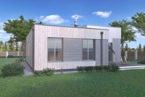 Проект коттеджа с плоской крышей РБ