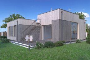 Проект коттеджа с плоской крышей РБ изображение