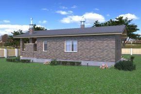 Облицовка дома с террасой
