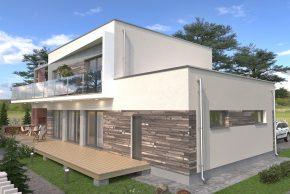 Проект дома с плоской крышей изображение
