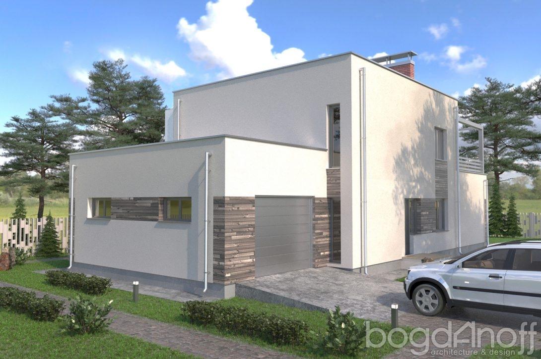 Проект дома с плоской крышей фото