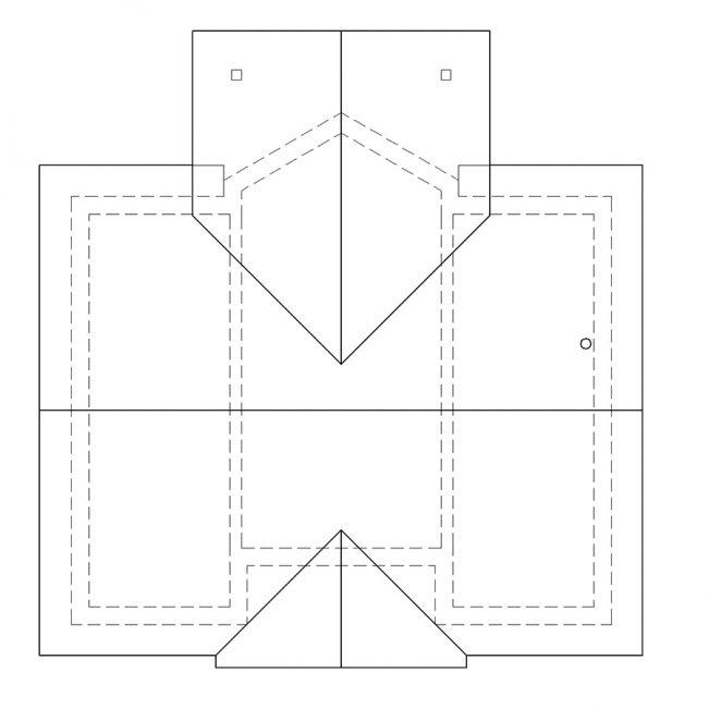 Схема кровли одноэтажного дома с террасой