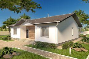 Проект одноэтажного дома с террасой изображение