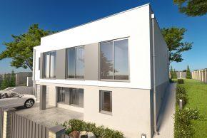 Проект дома с цокольным этажом и плоской кровлей РБ фото
