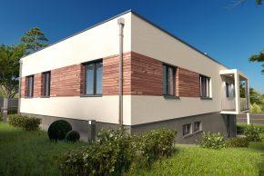 Проект дома с цоколем на неровном участке