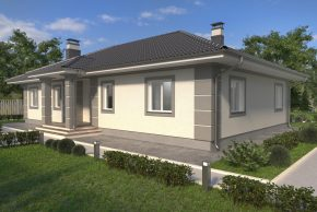 Проект большого просторного дома в 1 этаж изображение