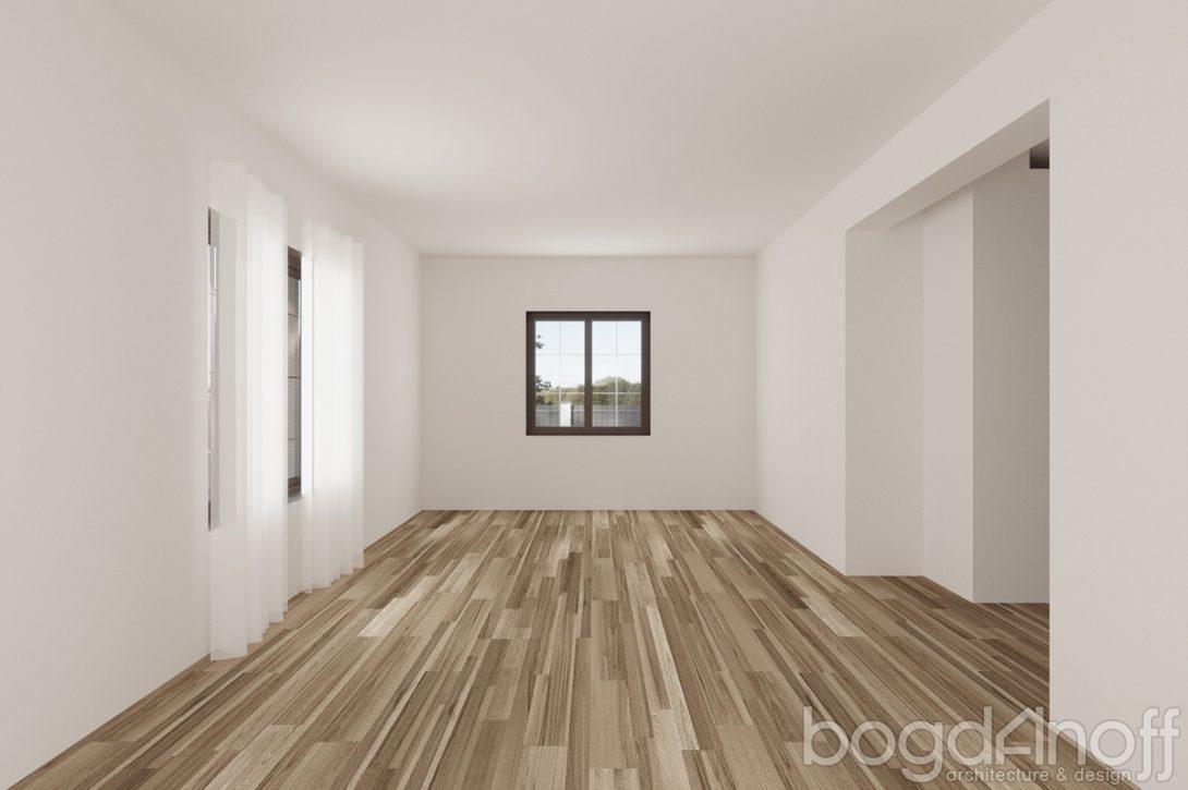 Проект одноэтажного недорогого дома изнутри