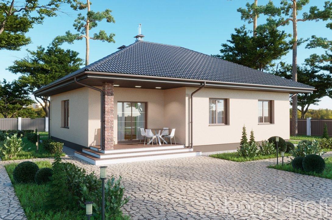Проект одноэтажного недорогого дома 106 кв м