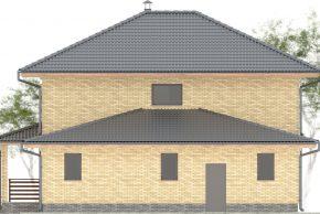 Макет двухэтажного дома с гаражом изображение