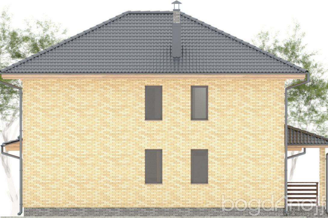 Макет двухэтажного дома с гаражом