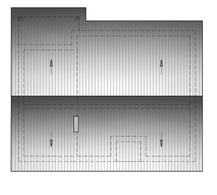 Одноэтажный проект дома с двускатной крышей П4-231 - кровля