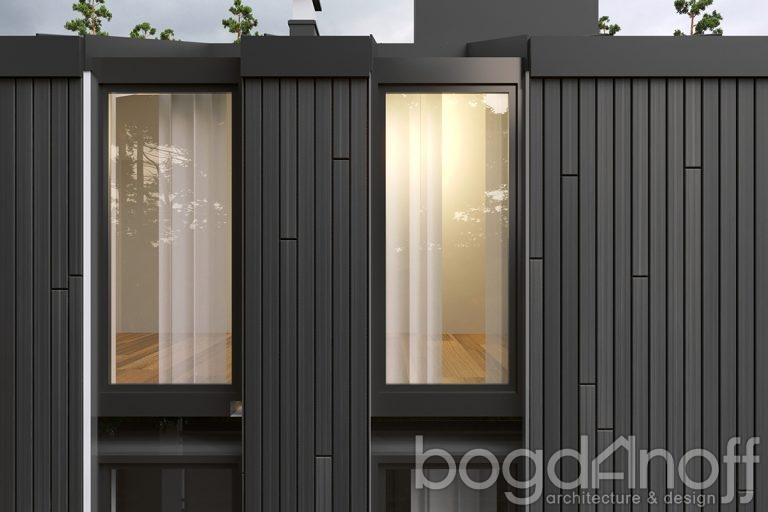 Проект двухэтажного дома в стиле хай тек фото