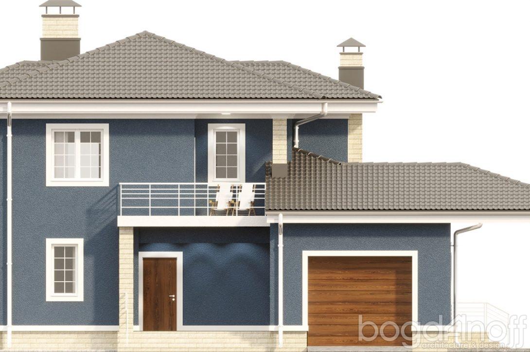 Макет двухэтажного дома с гаражом фото