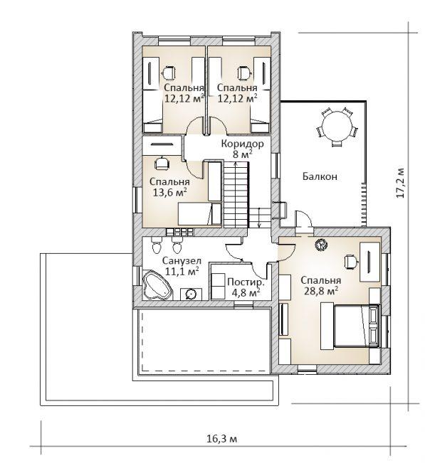 Планировка жилого дома с плоской крышей