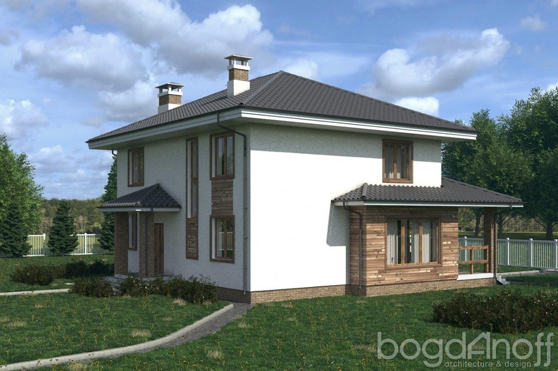 Проект двухэтажного дома с террасой фото