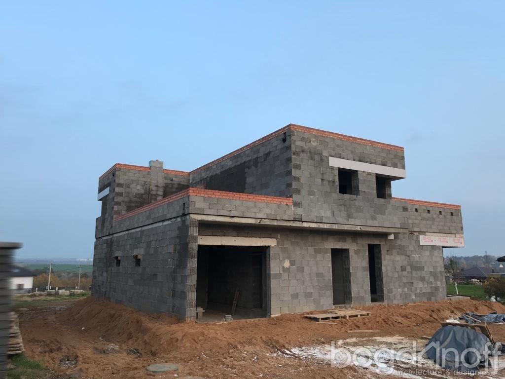 фото дома с плоской крышей