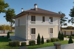 Двухэтажный дом для проживания большой семьи из 4-5 человек