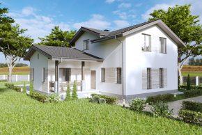 2. Проект мансардного дома без гаража П5-51
