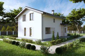 4. Проект мансардного дома без гаража П5-51