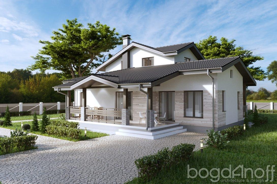 1. Проект мансардного дома без гаража П5-51
